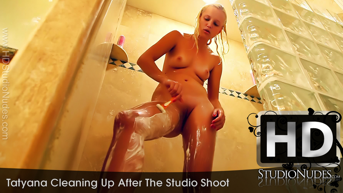 Tatyana Cleaning Up After The Studio Shoot - Play FREE Preview Video!
